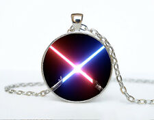 Star Wars Photo Cabochon Glass Tibet Silver Chain Pendant Necklace AAA69