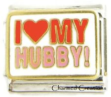 I Love My Hubby 9mm Italian Charm Link For Bracelet Husband Marriage Family