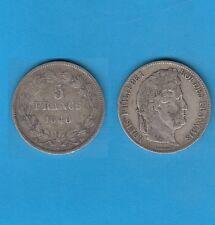 µ Gertbrolen µ  Louis-Philippe  5 FRANCS Argent tête laurée 1840 Strasbourg