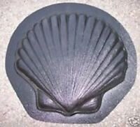 """Shell stepping stone plastic mold 1"""" thick plaster concrete mould"""