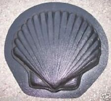 """gostatue shell stepping stone plastic mold 1"""" thick plaster concrete mould"""