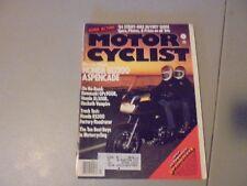 MARCH 1984 MOTORCYCLIST MAGAZINE,HONDA ASPENCADE GL1200,HONDA RS500,XL350R,KAWAS