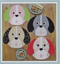 PATTERN - Puppy Party - whimsical dog Placemats PATTERN - Susie C Shore