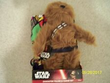 BRAND NEW! STAR WARS CHEWBACCA CHARACTER PILLOW + STAR WARS THROW!