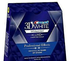 Crest 3D White Whitestrips Professional Effects 20 Strips 10 Pouches NO BOX New