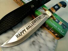 """Timber Wolf Limited Halloween Hunter Bowie Knife 5mm Full Tang TW625 16"""" OA New"""