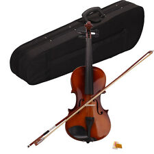 New Music 4/4 Full Size Natural Acoustic Violin Fiddle with Case Bow Rosin