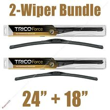 "2-Wipers: 24"" + 18"" Trico Force All-Season Beam Wiper Blades - 25-240 25-180"