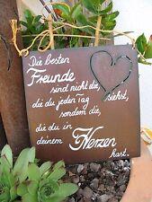 """Spruchtafel - Edel-Rost -Tafel - Garten - Schild - """"Die besten Freunde .."""" (1)"""