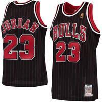 NBA Jersey Shirt Chicago Bulls Michael Jordan No23 Black Strip