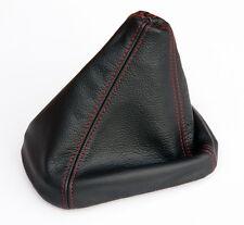 Schaltsack, Schaltmanschette FADEN ROT passend für AUDI 80,90 B3 / B4 Echt Leder