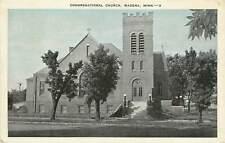 Minnesota, MN, Wadena, Congregational Church 1944 Postcard