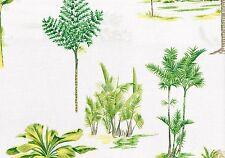 Waverly Fabric Malaya White Green Yellow Brown  Cotton  Drapery Upholstery
