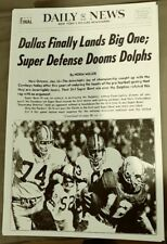 Dallas Cowboys Super Bowl VI Newspaper Front Page photo Extremely Rare!!!