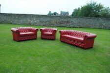 Brand New Red Bycast Leather Chesterfield Diamante 3 Piece Suite Brand New!
