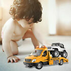 RC Trailer Toys Radio Controlled Model Truck Transporter Sound Light Control