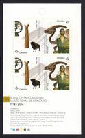 ROYAL ONTARIO MUSEUM = Canada 2014 #2725-2726 MNH BKLT PAGE of 4
