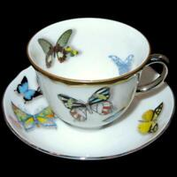 Vista Alegra Christian Lacroix BUTTERFLY PARADE Demitasse Cup & Saucer NWT