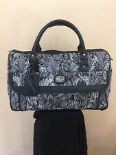 DIANE VON FURSTENBERG DVF Tapestry Overnight Travel Carry-On Bag Luggage Black