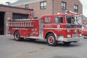 Westwood MA Engine 1 1969 Ward LaFrance Pumper - Fire Apparatus Slide