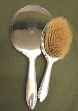 Gorham Sterling Silver Hand Mirror and Brush
