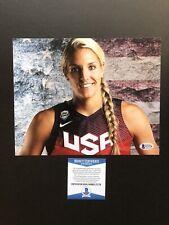 Elena Delle Donne autographed signed 8x10 photo Beckett BAS COA USA Basketball
