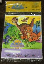 LAND BEFORE TIME LOOT BAGS Party Supplies Dinosaurs Birthday 1997 Littlefoot NEW