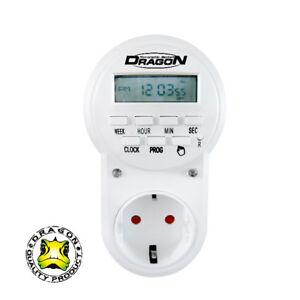 Dragon ALL-TIMER Digitale Sekundenzeitschaltuhr 1Sek.-7Tage Kinderschutz /TC-30