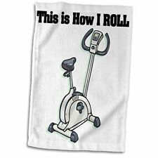3D Rose This is How I Roll Bike Exercising Design Hand/Sports Towel, 15 x 22