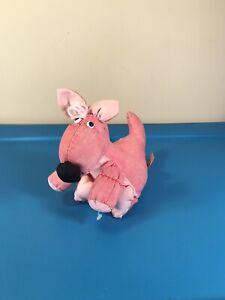 """Vintage Applause Pink Pufflet Kangaroo 7"""" Plush"""