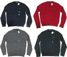 Polo Ralph Lauren Mens RL Cable Knit Crew Neck Slim Ivy League Pony Logo Sweater