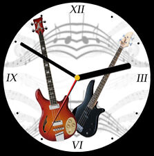 Bass guitar CD Clock, free stand can be personalised
