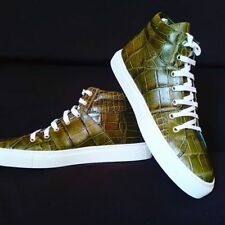SNEAKERS LACE SHOES IN COCCODRILLO TAILORED BESPOKE REALIZZATE A MANO IN ITALIA