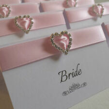 Pink Wedding Place Cards
