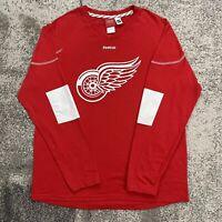 Reebok NHL Detroit Red Wings Pavel Datsyuk Hockey Shirt Mens Large