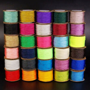Satin Silk Braid Knotting Cord Thread Rope Roll Beading Jewelry Design Making