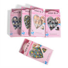 Lot Acrylic Designer Nail tips False French Full Nails Art glue Finger 24pcs set