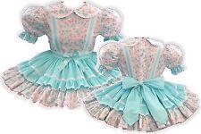 """""""Kaylee"""" Custom Fit MINT Butterflies Adult Little Girl Baby Sissy Dress LEANNE"""