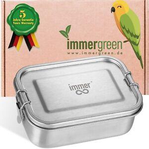 Immer Basic Edelstahl Brotdose - Nachhaltige Lunchbox für Büro Schule Picknick