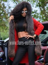 NEW 2018 RED SWEATER FOX FUR HOOD CLASS- SABLE MINK JACKET VEST COAT CHINCHILLA