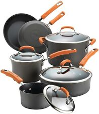Rachael Ray Classic Brights Hard-Anodized 10pc Nonstick Cookware Set - Open Box