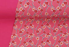 (EUR 19,00/m) Stoffpaket Softshell Blüten Rosa Pink 1,00m+0,25m=1,25m (Art 753)