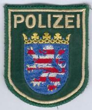 German Police/Hessen Patch old green Uniform, RARE, I/II