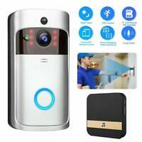 Wireless Smart WiFi Door Bell IR Video Visual Camera Intercom Home Security s
