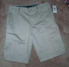 NEW BURNSIDE Men Shorts 32 Flat Front Stone NEW NWT