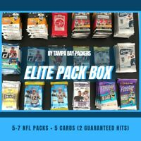 NFL Elite Pack Box : 5-7 Quality Packs of Cards + 5 Cards