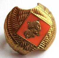 Boy Scout TIGER CUB NECKERCHIEF SLIDE Tie Gold ORANGE Enamel Woggle NEW w/TAG