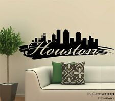 Huge Houston Skyline Vinyl Wall Decal Wall Sticker Man cave Bedroom Removable