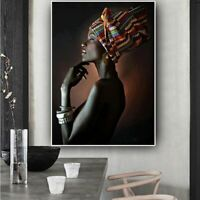 Wall Art African Nude Woman Headband Canvas Painting Posters Room Decoration