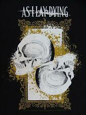 NEW AS I LAY DYING SKULLS WITH GOLD MENS T-SHIRT X-LARGE